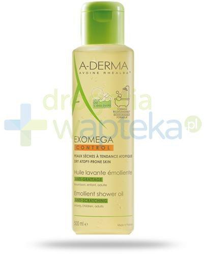 A-Derma Exomega Control olejek emolient po prysznic przeciw drapaniu 500 ml  whited-out