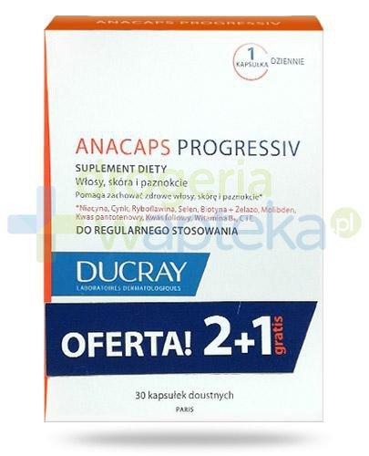 Ducray Anacaps Progressiv 3x 30 kapsułek [WIELOPAK]