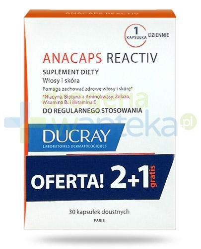 Ducray Anacaps Reactiv 3x 30 kapsułek [WIELOPAK]