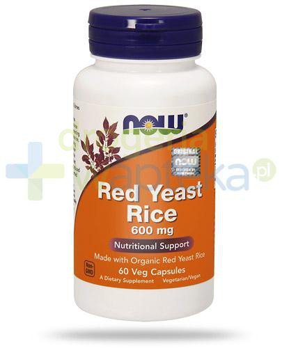 NOW Food Red Yeast Rice 600mg czerwony ryż 60 kapsułek