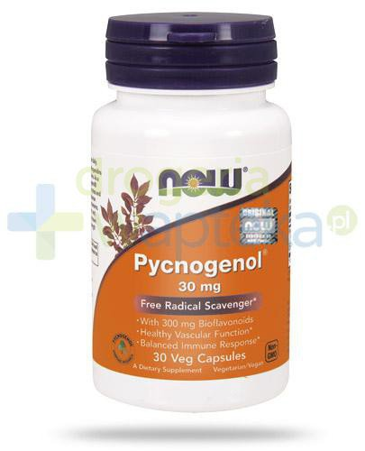 NOW Foods Pycnogenol® wyciąg z kory sosny śródziemnomorskiej 30mg 30 kapsułek