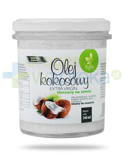 Bellis Food Olej kokosowy Extra Virgin tłoczony na zimno 340 ml  whited-out