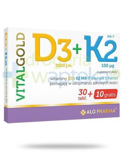 Alg Pharma D3 + K2 VitalGold 40 tabletek