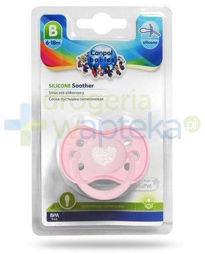 Canpol Babies Pastelove smoczek silikonowy symetryczny dla dzieci 6-18m 1 sztuka [22/417]
