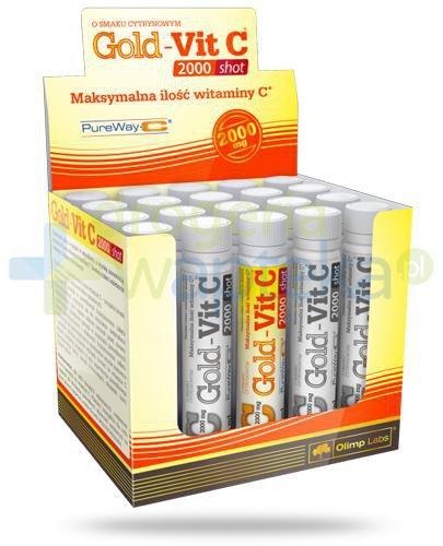 Olimp Gold-Vit C 2000 Shot smak cytrynowy, ampułka 25 ml
