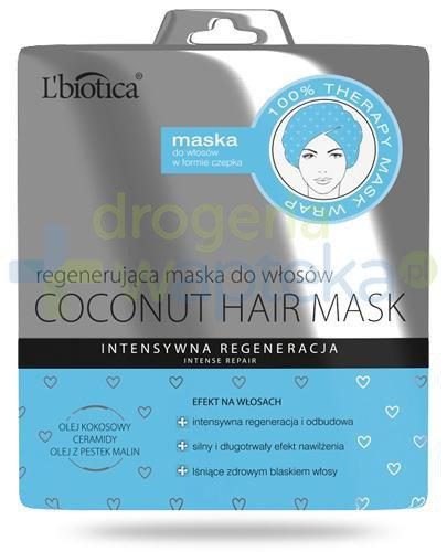 Lbiotica Coconut Hair Mask regenerująca maska do włosów w formie czepka 30 ml