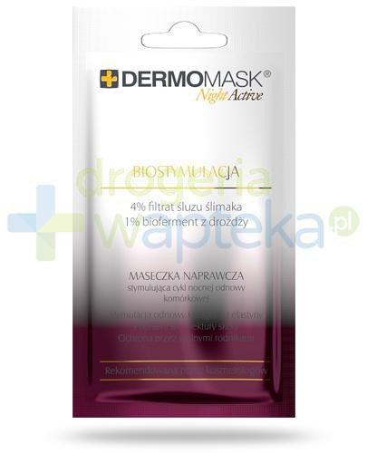 Lbiotica Dermomask Night Active Biostymulacja maseczka naprawcza 12 ml