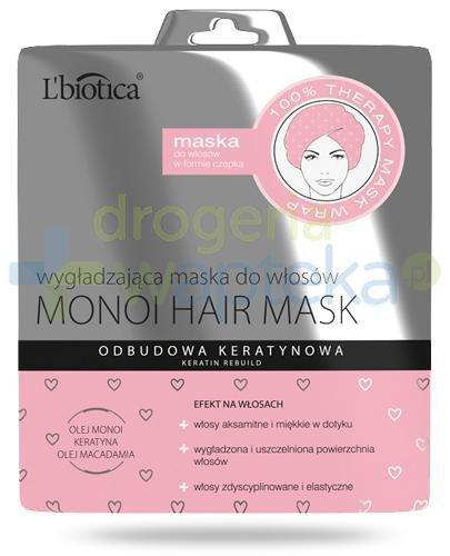 Lbiotica Monoi Hair Mask wygładzająca maska do włosów w formie czepka 30 ml