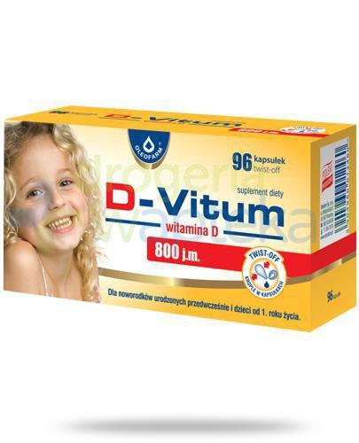 D-Vitum 800 witamina D dla niemowląt 96 kapsułek