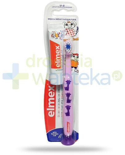 Elmex szczoteczka miękka do zębów dla dzieci 0-3 lat 1 sztuka + Elmex pasta do zębów ...