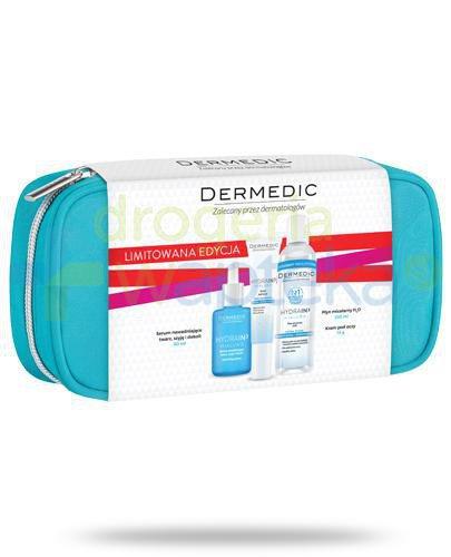 Dermedic Hydrain3 Hialuro serum nawadniające twarz, szyję i dekolt 30 ml + krem pod ocz...  whited-out