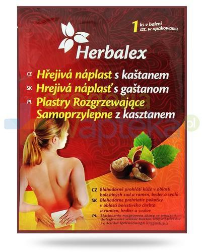 Herbalex plaster rozgrzewający z kasztanem 1 sztuka