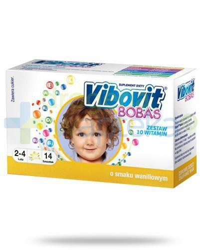 Vibovit Bobas smak waniliowy dla dzieci 2-4 lat 14 saszetek