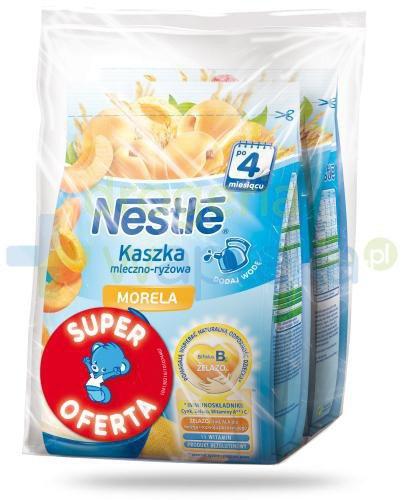 Kaszka mleczno-ryżowa Nestlé morela po 4 miesiącu 2x 230 g [DWUPAK] + łyżeczka [GRATI...