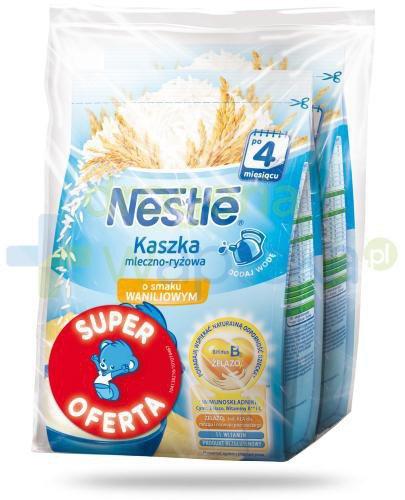 Kaszka mleczno-ryżowa Nestlé o smaku waniliowym po 4 miesiącu 2x 230 g [DWUPAK] [Data w...