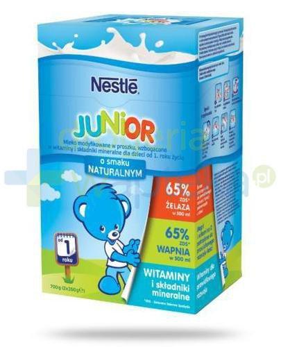 Mleko Nestlé Junior o smaku naturalnym Mleko modyfikowane w proszku wzbogacone w witaminy...