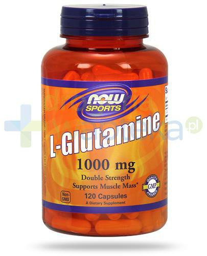 NOW Foods L-Glutamine 1000mg 120 kapsułek