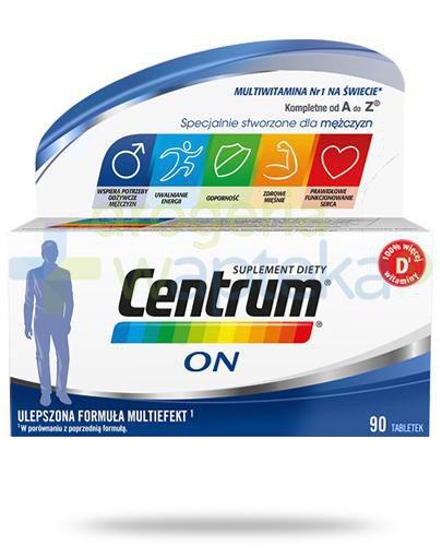 Centrum On Multiefekt witaminy i minerały dla mężczyzn 90 tabletek [Ulepszona formuła]  whited-out