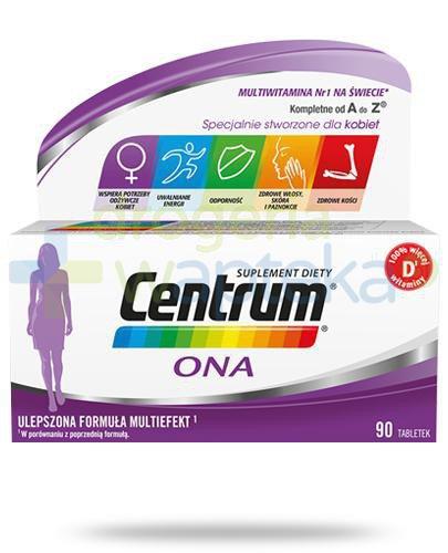 Centrum Ona Multiefekt witaminy i minerały dla kobiet 90 tabletek [Ulepszona formuła]