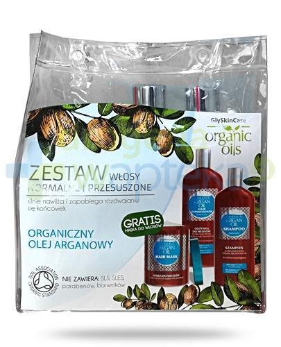 GlySkinCare Argan Oil zestaw do włosów normalnych i przesuszonych szampon 250 ml+ odzywk...