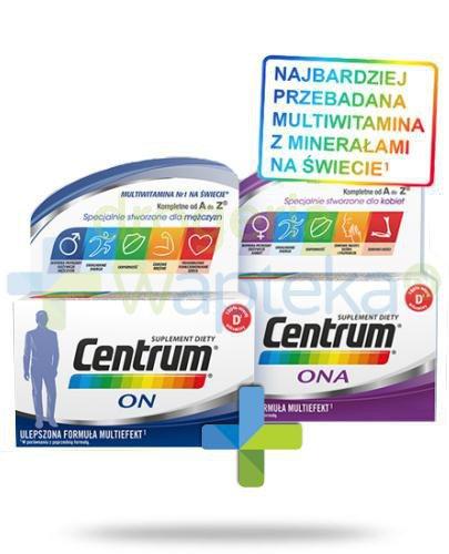 Centrum Ona i On Multiefekt witaminy i minerały dla kobiet i mężczyzn 2x 90 tabletek [U...