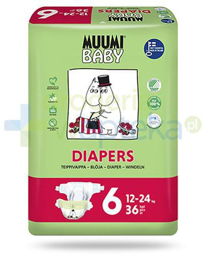 Muumi Baby 6 Diapers 12-24kg jednorazowe pieluszki dla dzieci 36 sztuk  whited-out