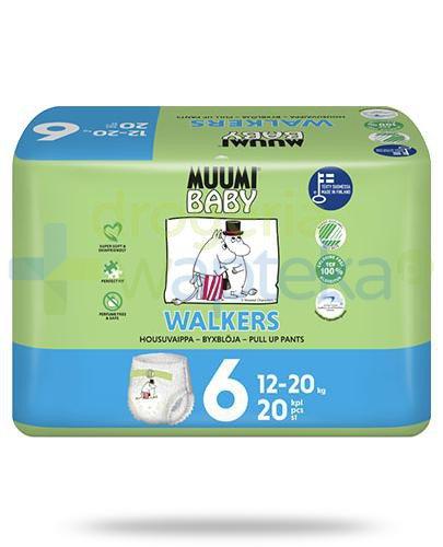 Muumi Baby 6 Walkers 12-20kg jednorazowe pieluchomajtki dla dzieci 20 sztuk