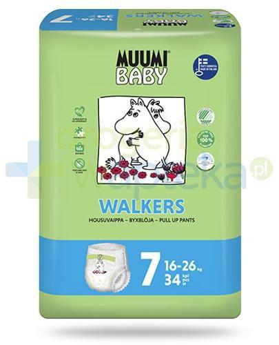 Muumi Baby 7 Walkers 16-26kg jednorazowe pieluchomajtki dla dzieci 34 sztuki