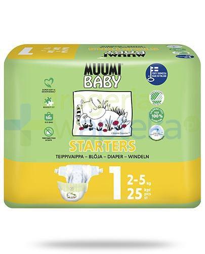 Muumi Baby 1 Starters 2-5kg jednorazowe pieluszki dla dzieci 25 sztuk