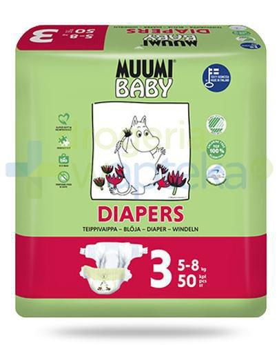 Muumi Baby 3 Diapers 5-8kg jednorazowe pieluszki dla dzieci 50 sztuk