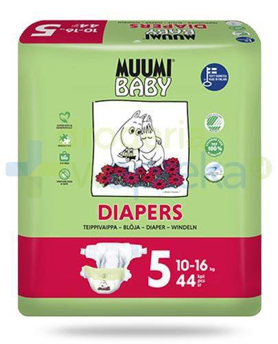 Muumi Baby 5 Diapers 10-16kg jednorazowe pieluchy dla dzieci 44 sztuki  whited-out