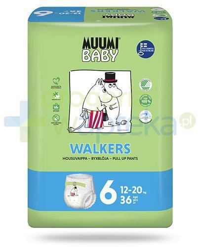 Muumi Baby 6 Walkers 12-20kg jednorazowe pieluchomajtki dla dzieci 36 sztuk