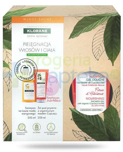 Klorane szampon na bazie wyciągu z masła mangowego 200 ml + Klorane Kwiat Hibiskusa odż...