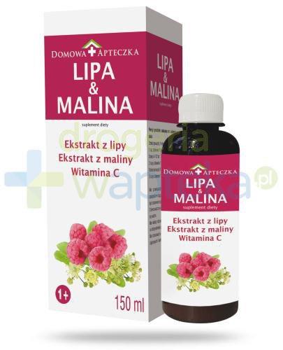 Domowa Apteczka Lipa & Malina ekstrakt z lipy, maliny, witamina C 150 ml