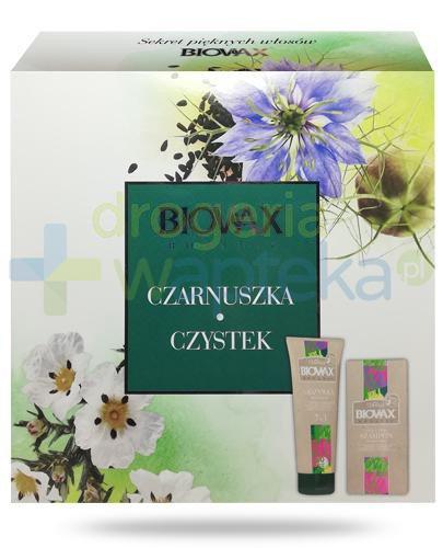 Biovax Botanic Czarnuszka Czystek, odżywka ekspresowa 7w1 200 ml + micelarny szampon oczy...  whited-out