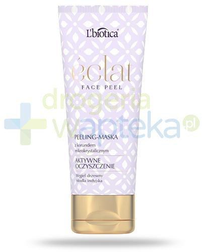 Lbiotica Eclat Face Peel, Aktywne oczyszczenie, peeling-maska z korundem mikrokrystaliczny...