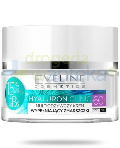 Eveline Hyaluron Clinic 60+ multiodżywczy krem wypełniający zmarszczki na dzień i na n...