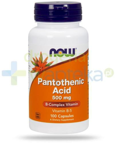 NOW Foods Pantothenic Acid 500 mg 100 kapsułek