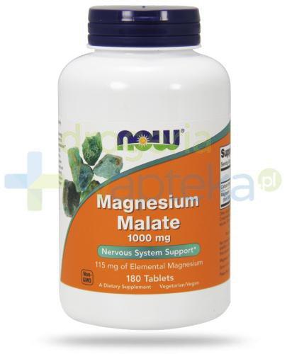 NOW Foods Magnesium Malate 1000 mg 180 tabletek