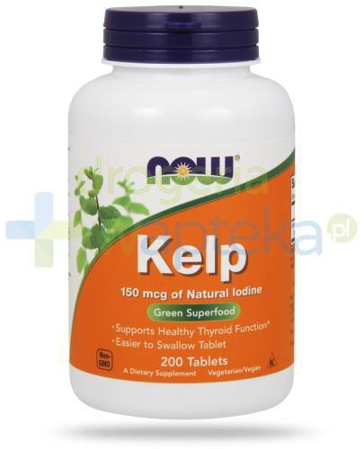 NOW Foods Kelp 150 mcg 200 tabletek  whited-out