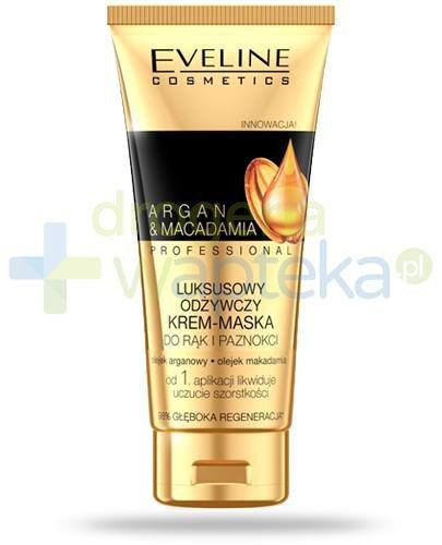 Eveline Argan & Macadamia Professional luksusowy odżywczy krem-maska do rąk i paznokc...