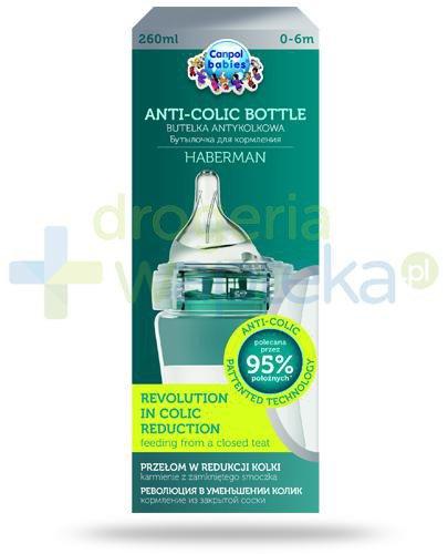 Canpol Babies Anti-Colic by Haberman butelka antykolkowa dla dzieci 0-6m 260 ml [1/098_pi...  whited-out