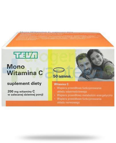 Teva Mono witamina C 200mg 50 tabletek