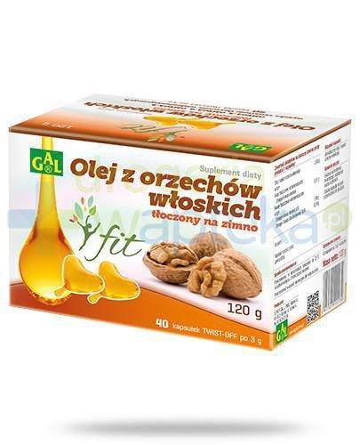 GAL Olej z orzechów włoskich tłoczony na zimno 40 kapsułek