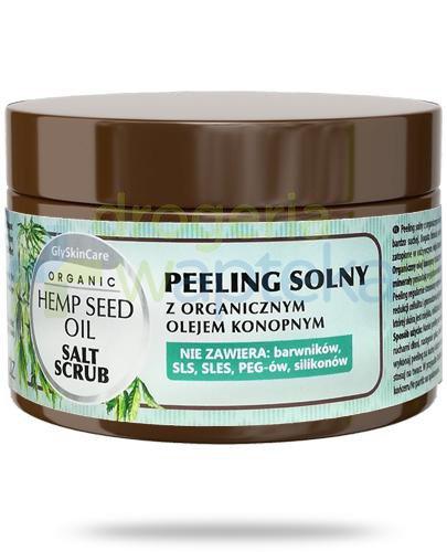 GlySkinCare Hemp Seed Oil peeling solny z organicznym olejem konopnym 400 g