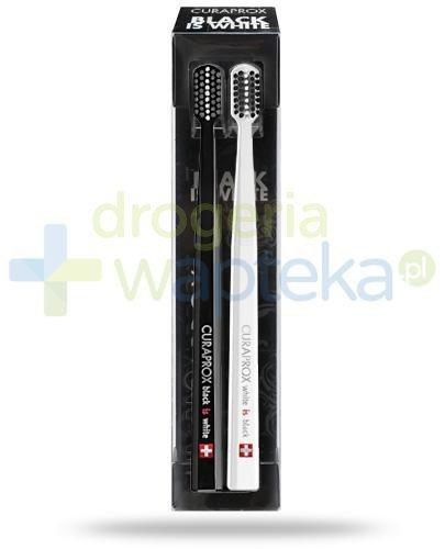 Curaprox CS 5460 Ultra Soft Black is White szczoteczka do zębów 1 sztuka + Curaprox C...