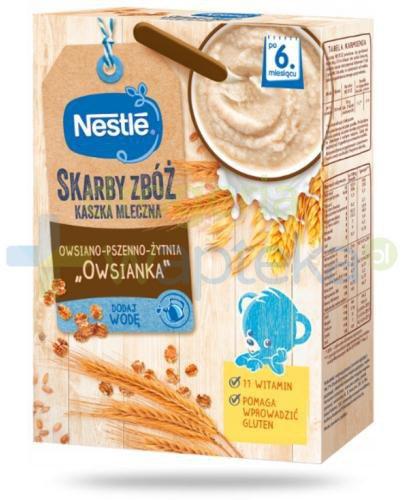 Kaszka mleczna Nestlé Skarby Zbóż owsianka owsiano-pszenno-żytnia po 6 miesiącu 250 g