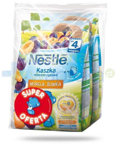 Kaszka mleczno-ryżowa Nestlé morela-śliwka po 4 miesiącu 2x 230 g [DWUPAK]  whited-out