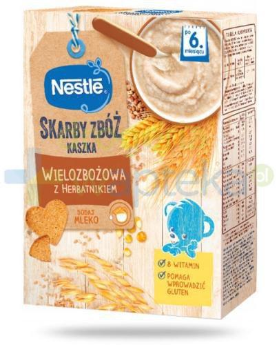 Kaszka wielozbożowa Nestlé Skarby Zbóż z herbatnikiem po 6 miesiącu 250 g