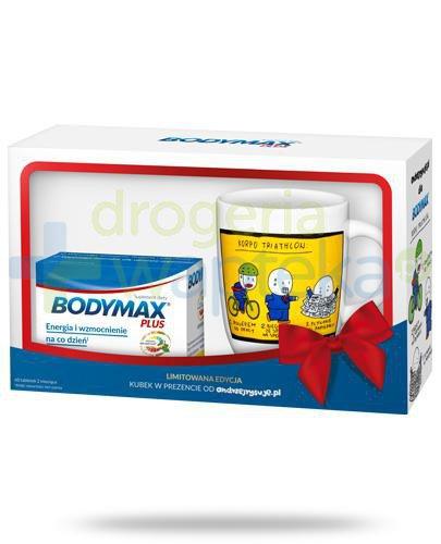 Bodymax Plus wyciąg z żeń-szenia GGE + witaminy 60 tabletek + kubek od andrzejrysuje.pl...  whited-out